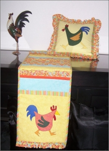 funky chicken table runner