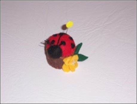 lady bug pin cushion
