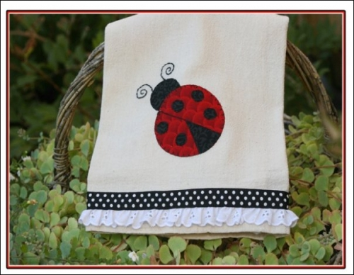 lady bug towel kit