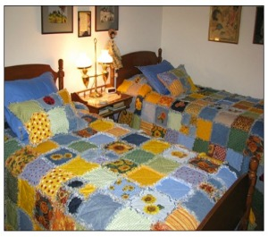 sunflower rag quilt