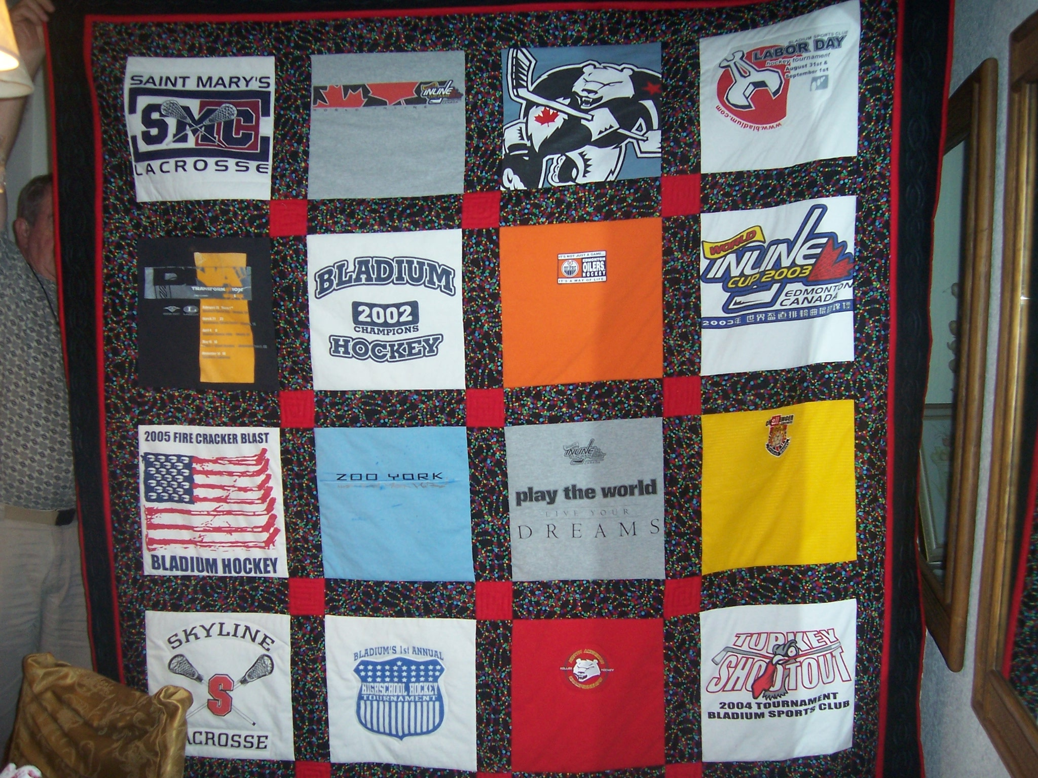 Quilting Designs For T Shirt Quilts : T-Shirt Quilts, Memory Quilts custom order Lady Bug Lace