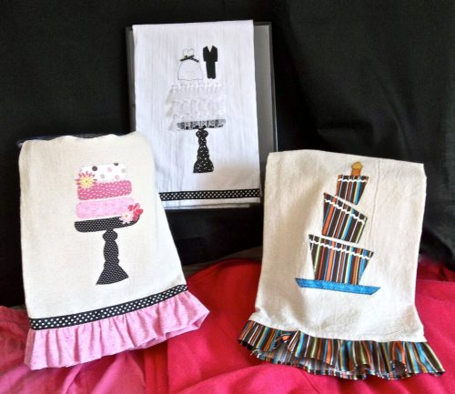 Celebrate those happy occasions with a cake towel
